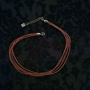 Jewelry - 5 Strand Leather Necklace (14 inches)